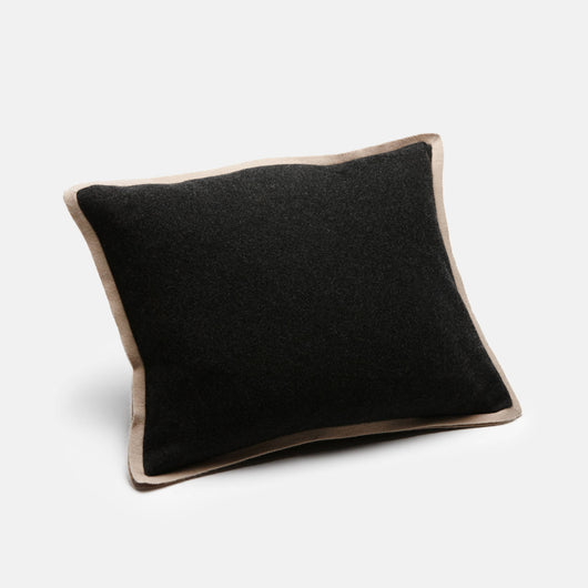 Half Milano Pillow - Dark Grey/Cream