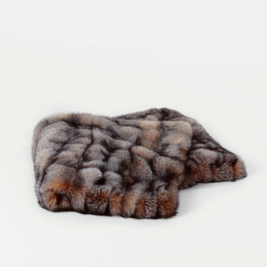 Fox Fur Throw - Crystal