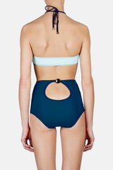 Hazel Bandeau & Holly High Waist Hipster - Glacier/Navy