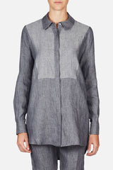 Tuxedo Button Down - Washed Grey