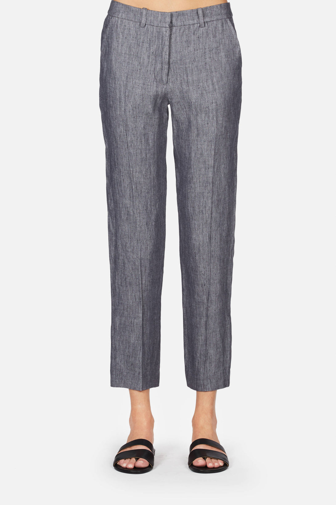 Cropped Trousers - Washed Grey