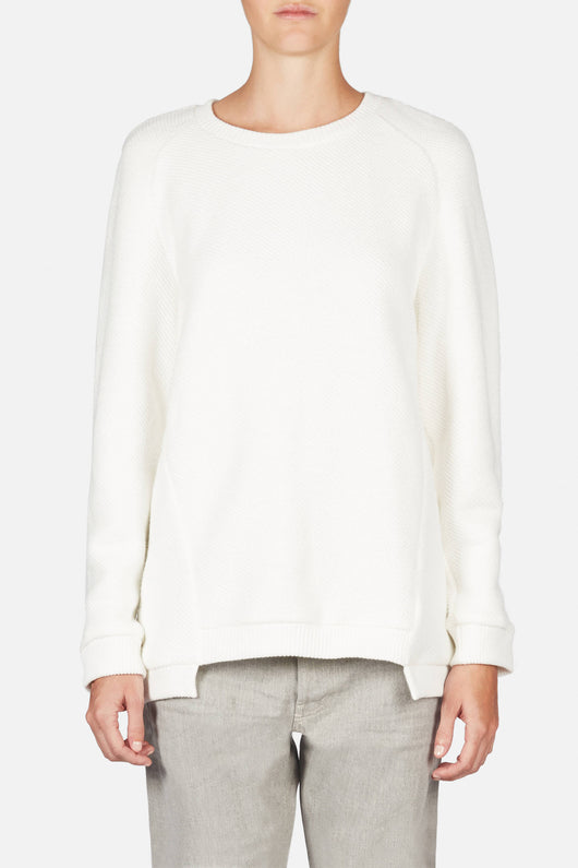 Oversized Sweatshirt - White