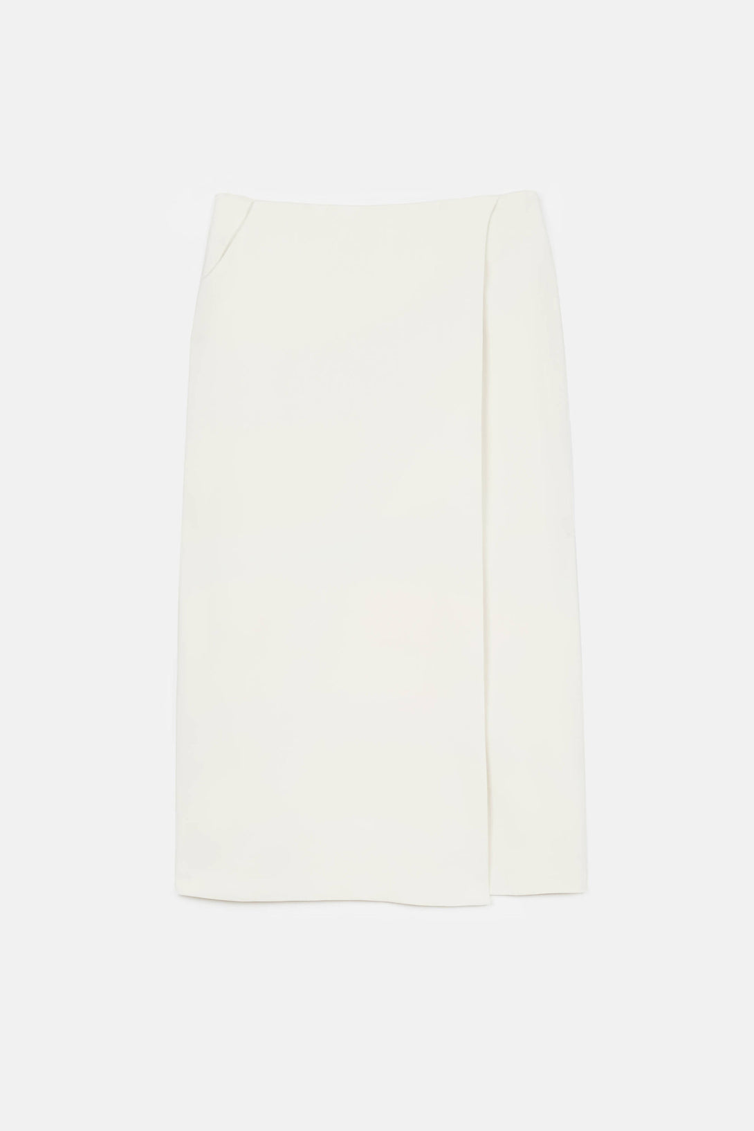 Mid Calf Pencil Skirt Ivory The Line