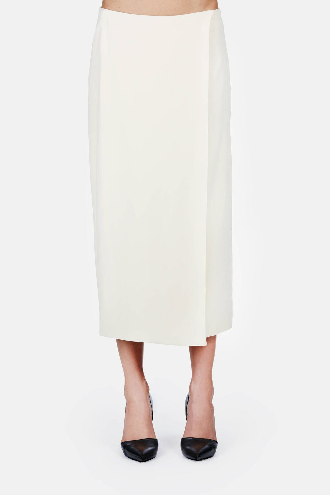 Mid-Calf Pencil Skirt - Ivory