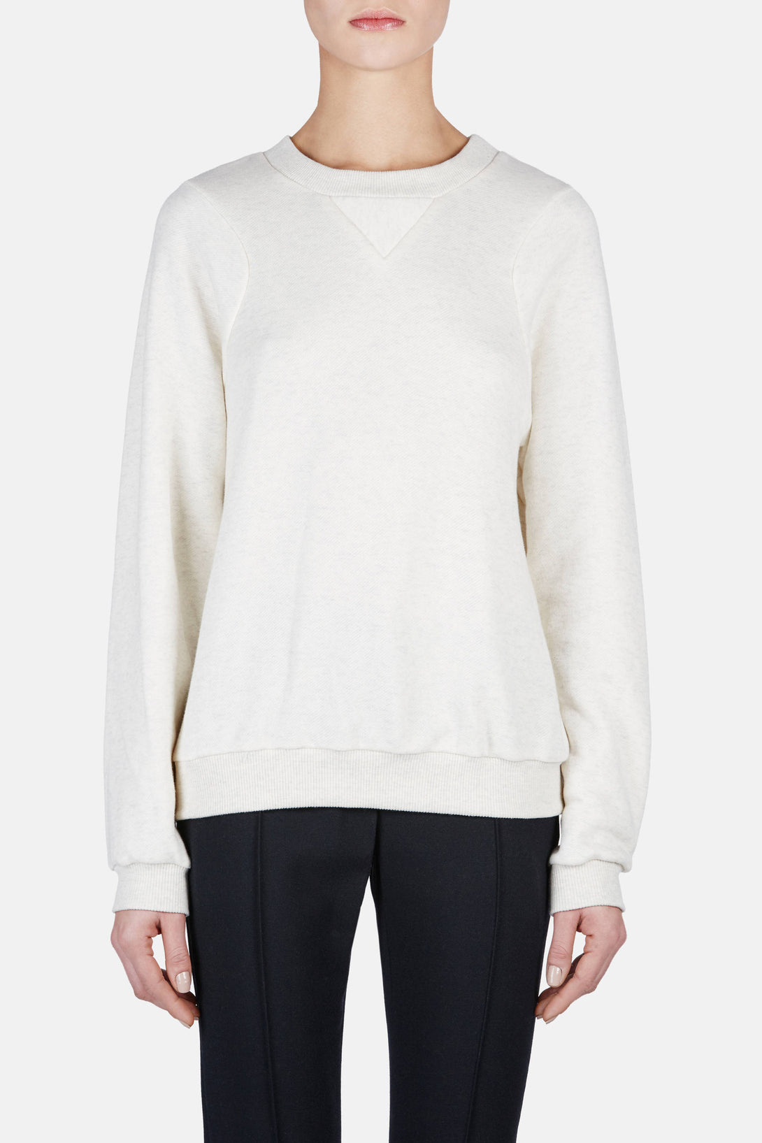 Track Sweatshirt - Heather Ivory