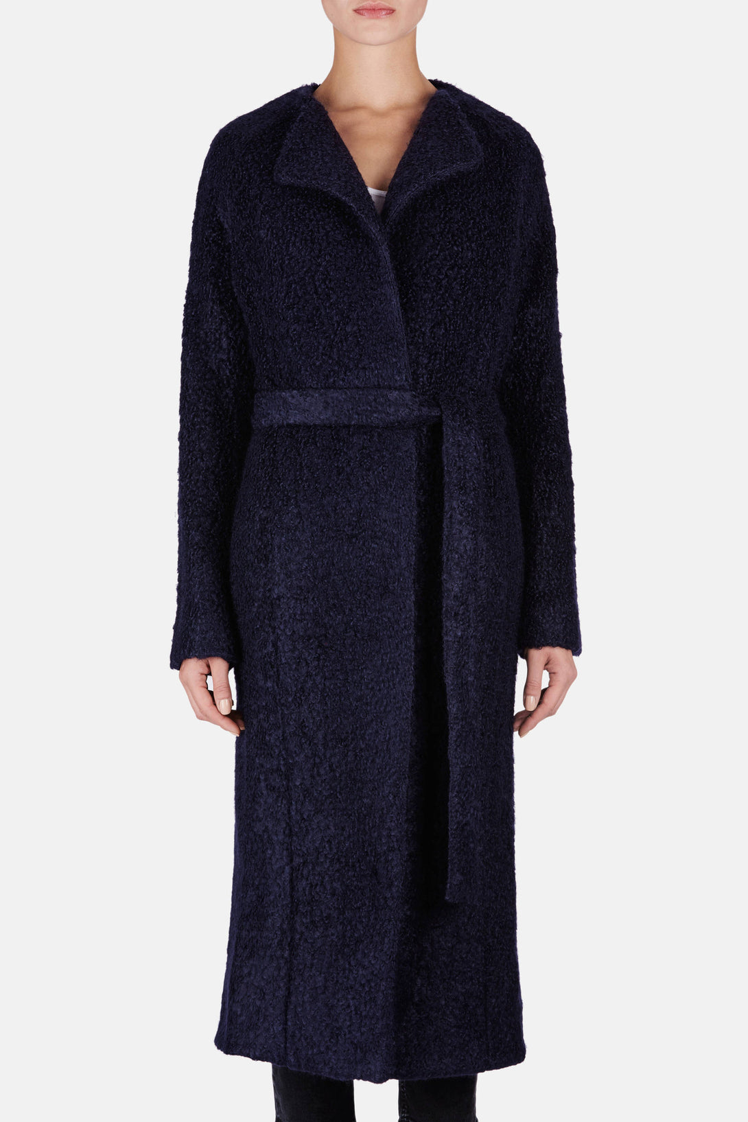 Wrap Coat - Navy