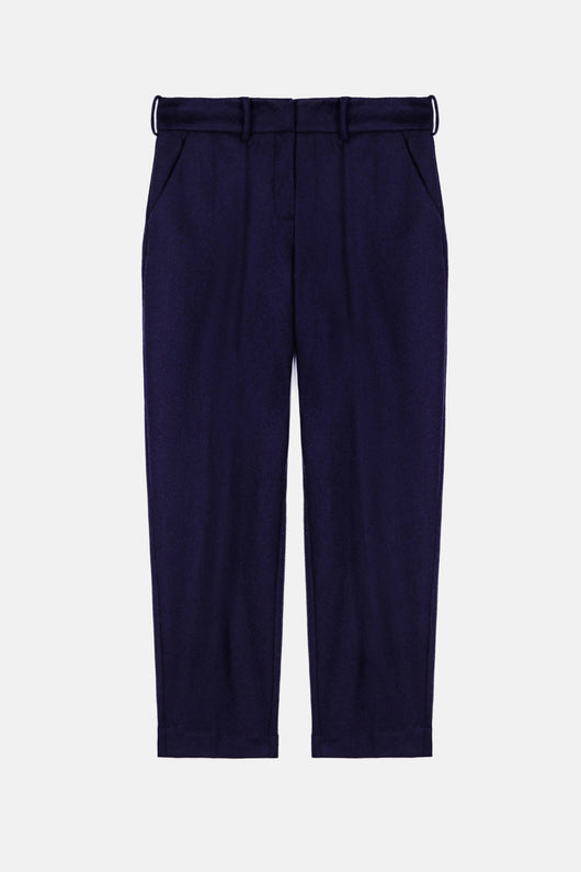 Pleated Pants - Navy/Navy