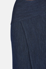 Midi Panelled Skirt - Indigo