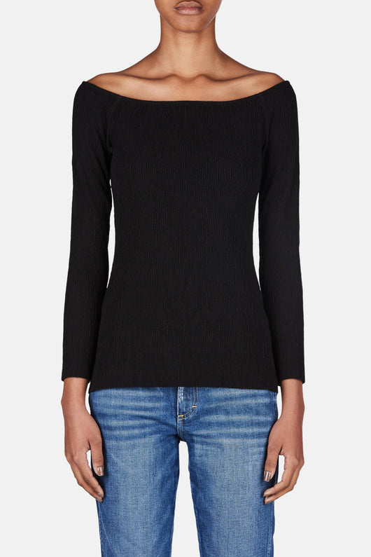 L/S Off The Shoulder Top - Black