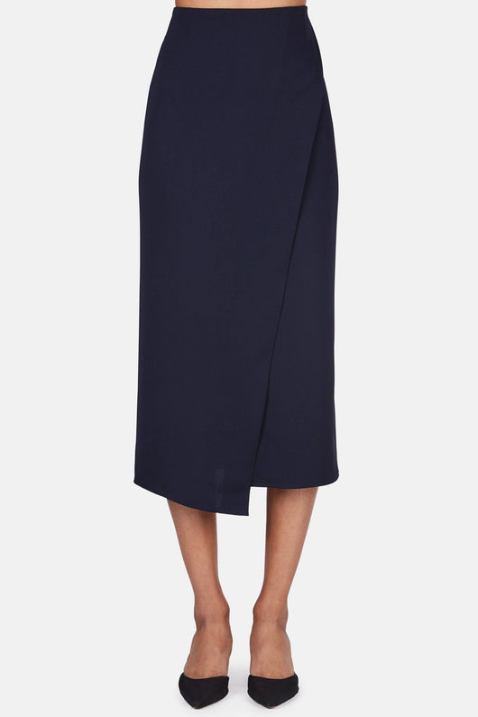 Tulip Pencil Skirt - Navy