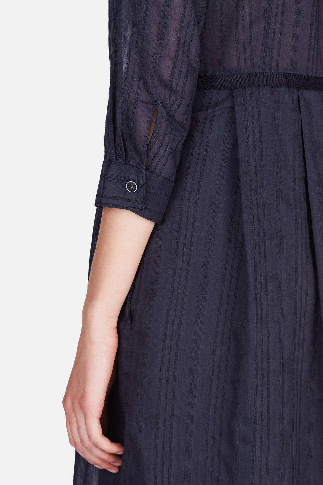 89ca3585d15 Pleated Skirt Shirt Dress - Midnight – The Line