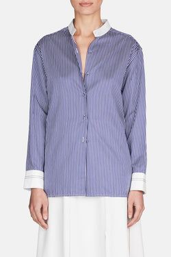 Agatha Shirt - Blue/White Stripe