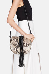 Ghianda Knot Saddle Bag - Python