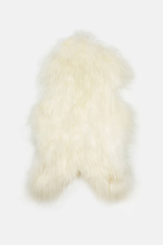 Natural White Icelandic Sheepskin