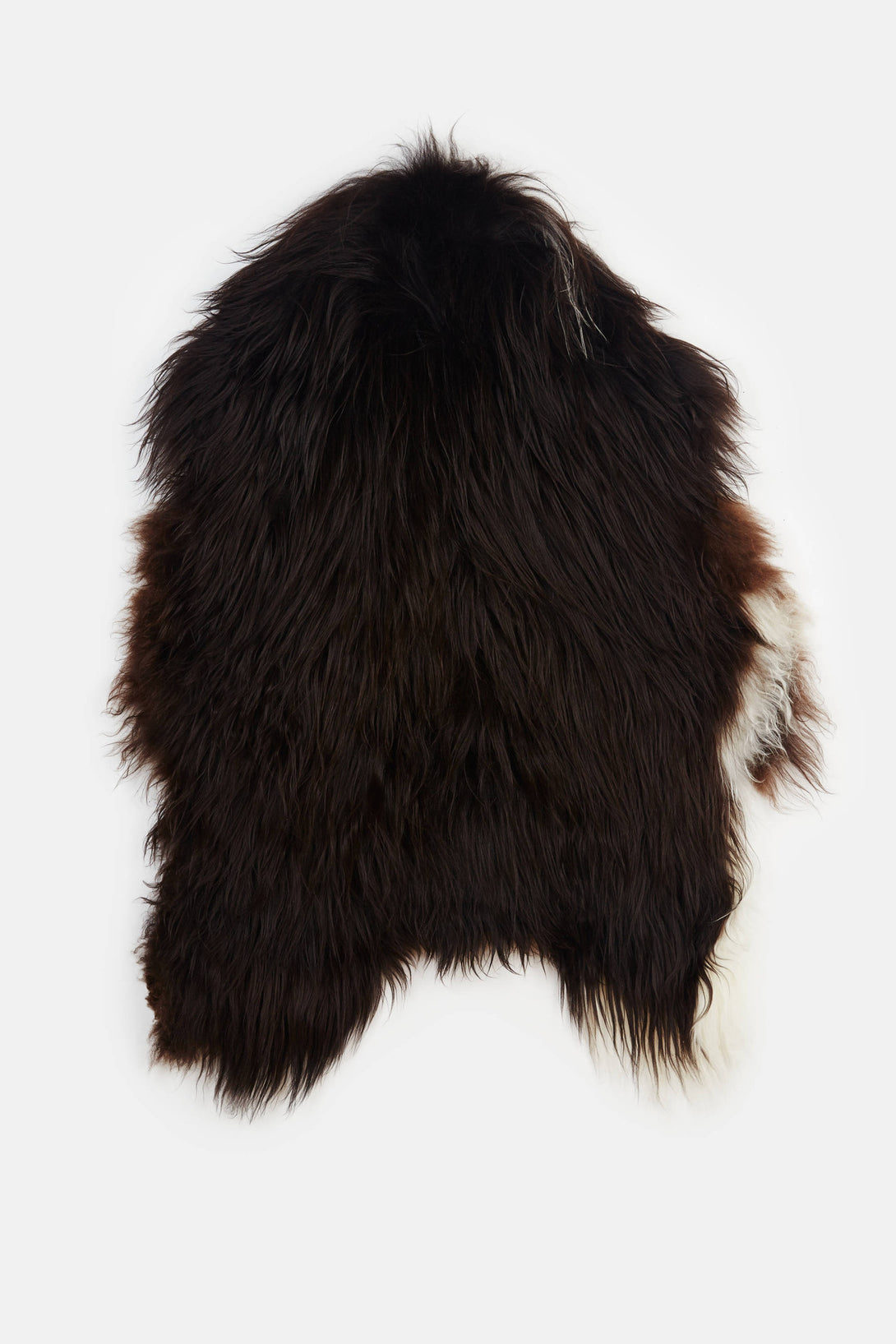 Extra Large Natural Spotted Icelandic Sheepskin - Black - SKU NOT USED