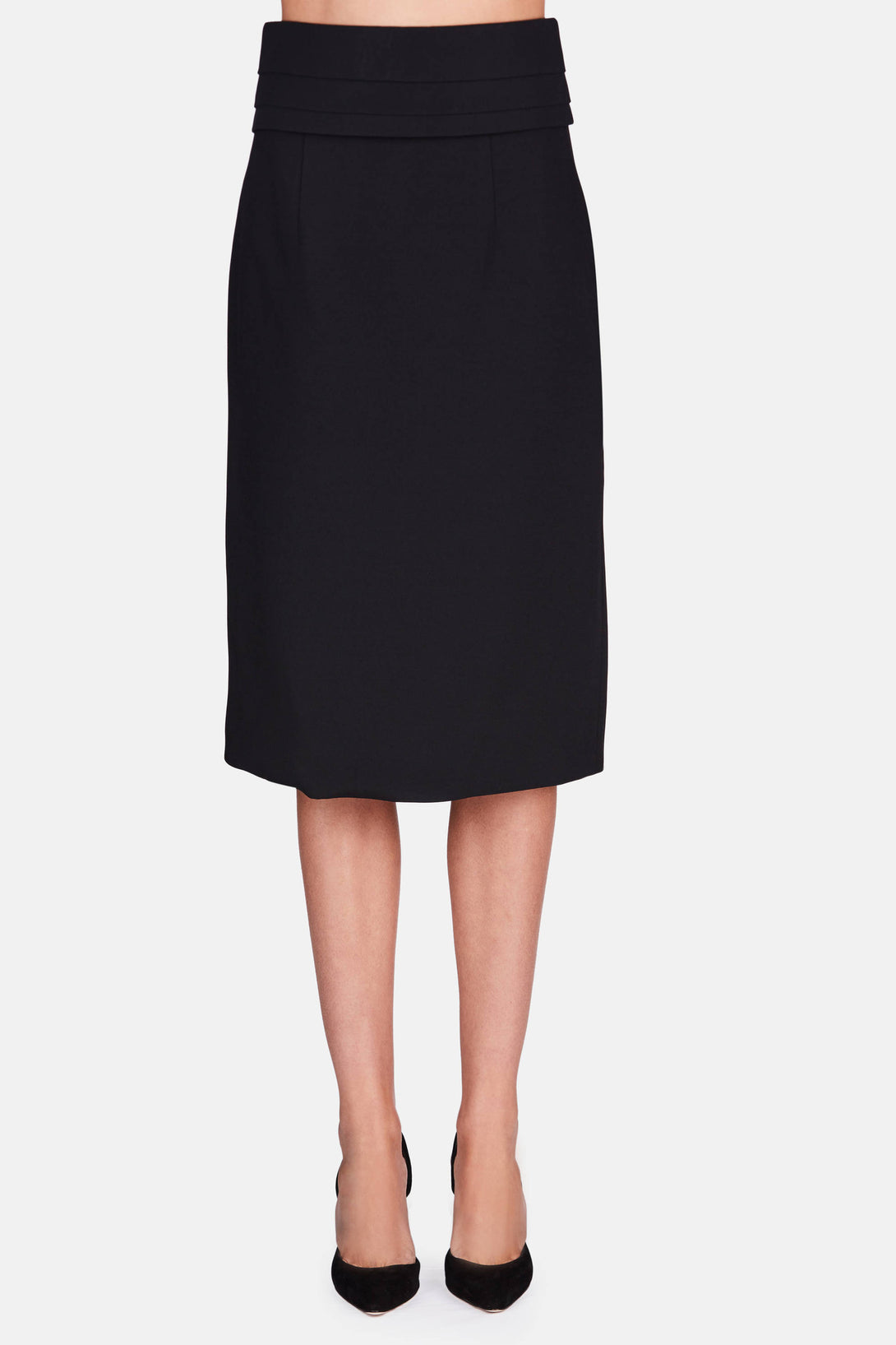 Pleated Asymetrical Skirt - Black