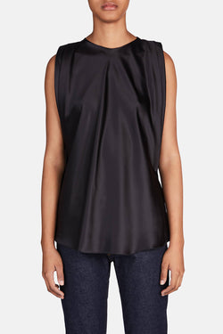Draped Muscle Tee - Black