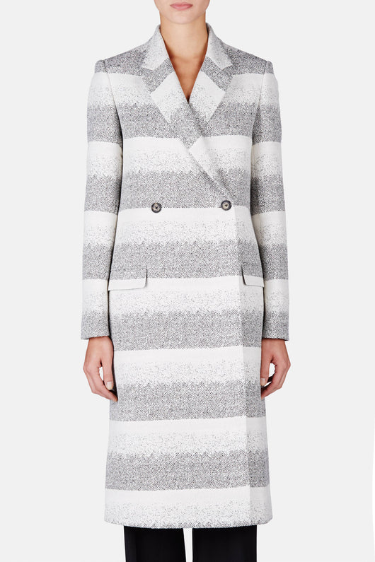 Stripe DB Coat - Black/White