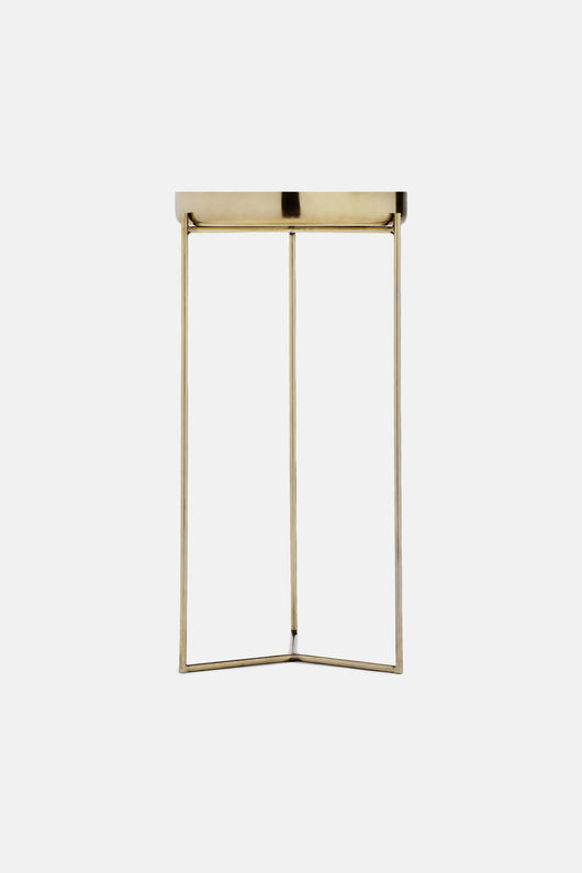 Tray Table in Brass Finish with Brass Tray