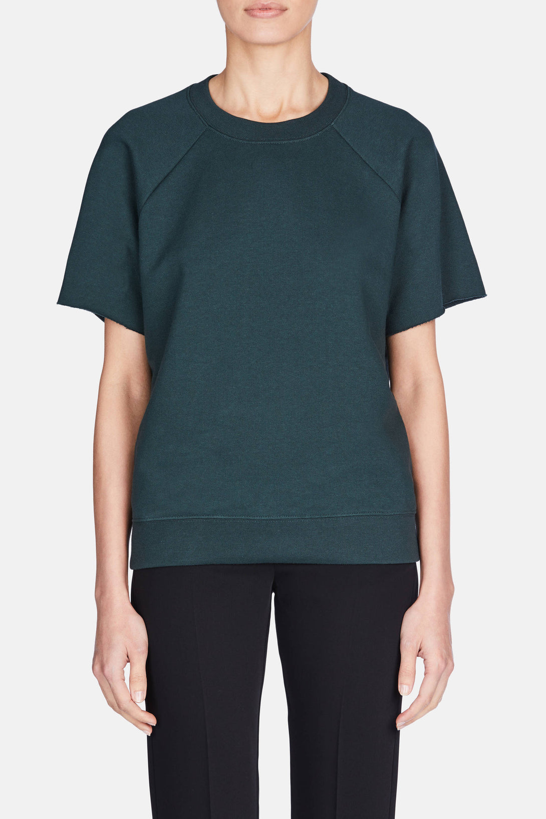 Basic Raglan Sweatshirt - Petrol Green