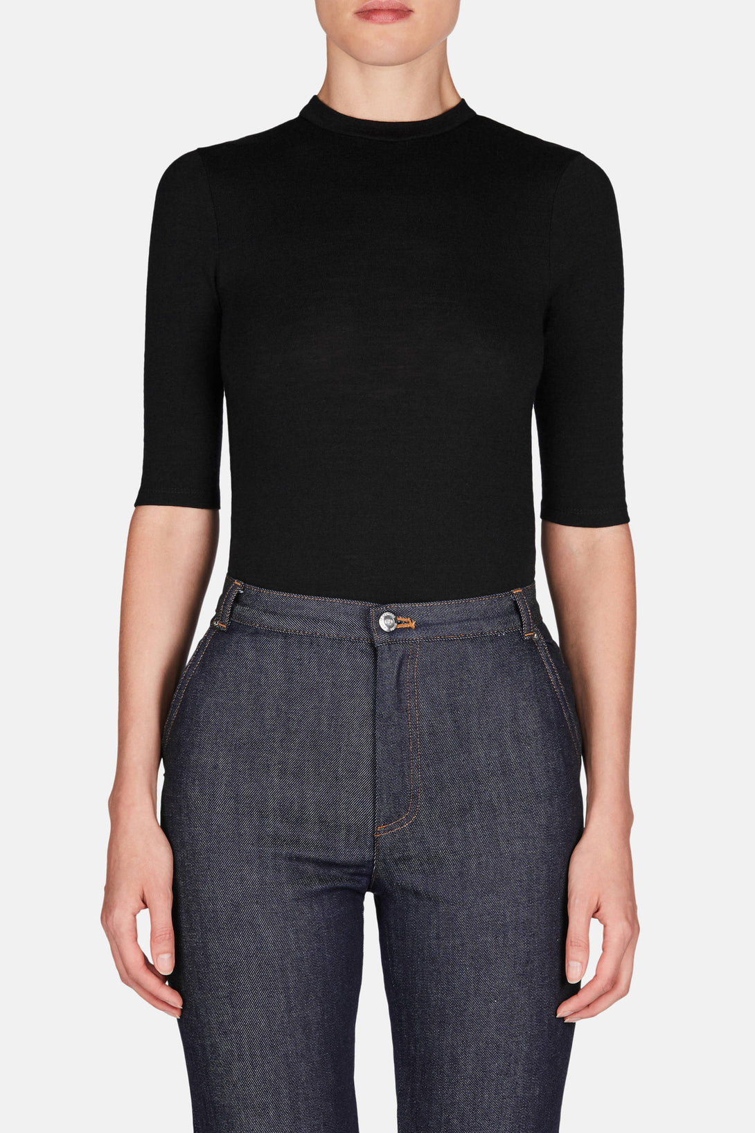 Bodysuit 04 T Sleeve Bodysuit - Jet Black