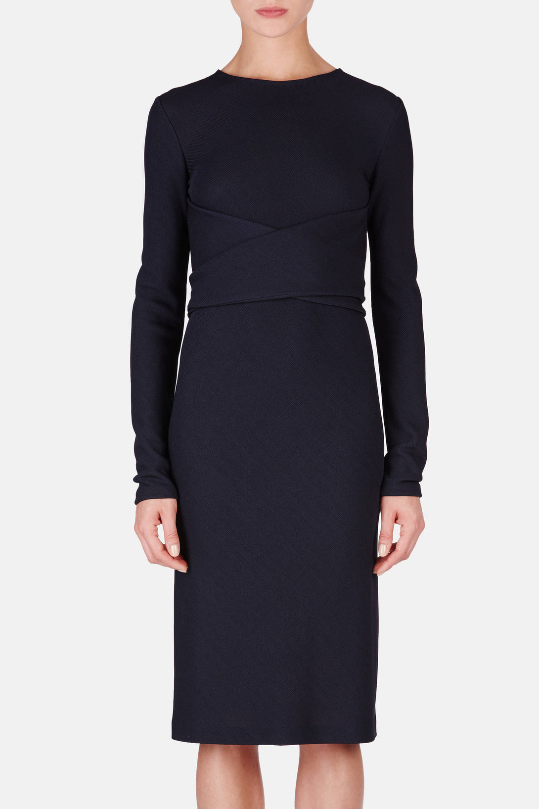 Structured Jersey Christina Bis Dress - Dark Navy