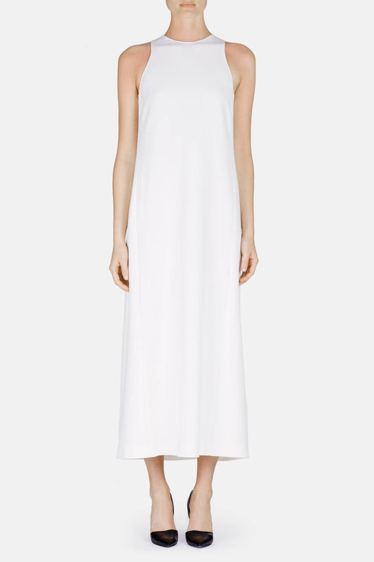 Double Cady Faille Dress - White