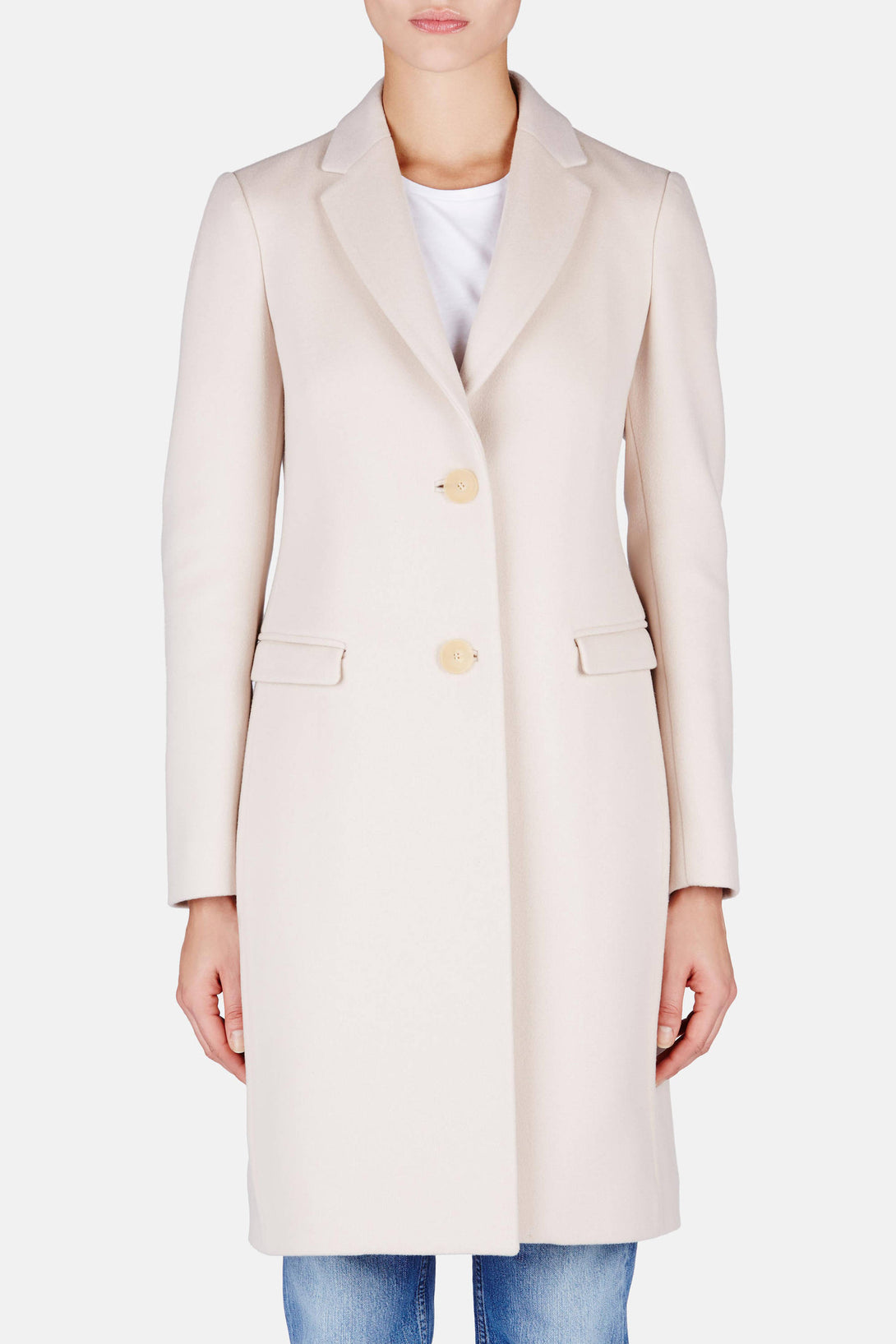 Double Wool Cashmere Coat - Sandstone