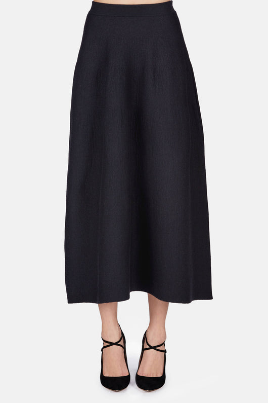 Felted Skirt - Black