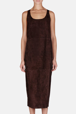 Suede Dress - Chocolate