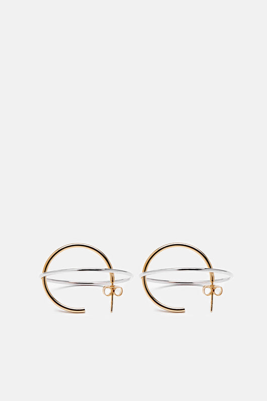 Medium Saturne Earrings - Vermeil/Silver