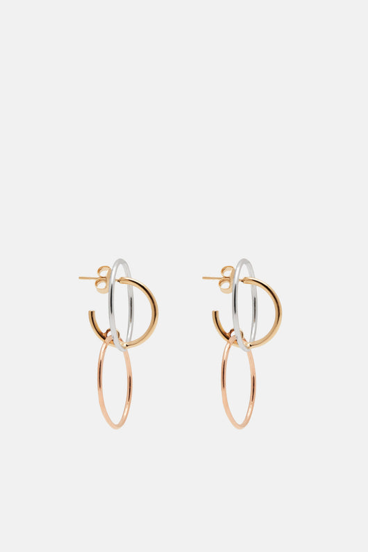 Galilea Small Earrings - Silver/Yellow/Pink