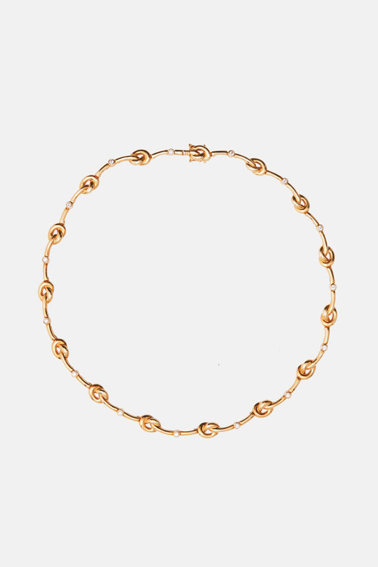 Verdura Gold and Diamond Knot Choker
