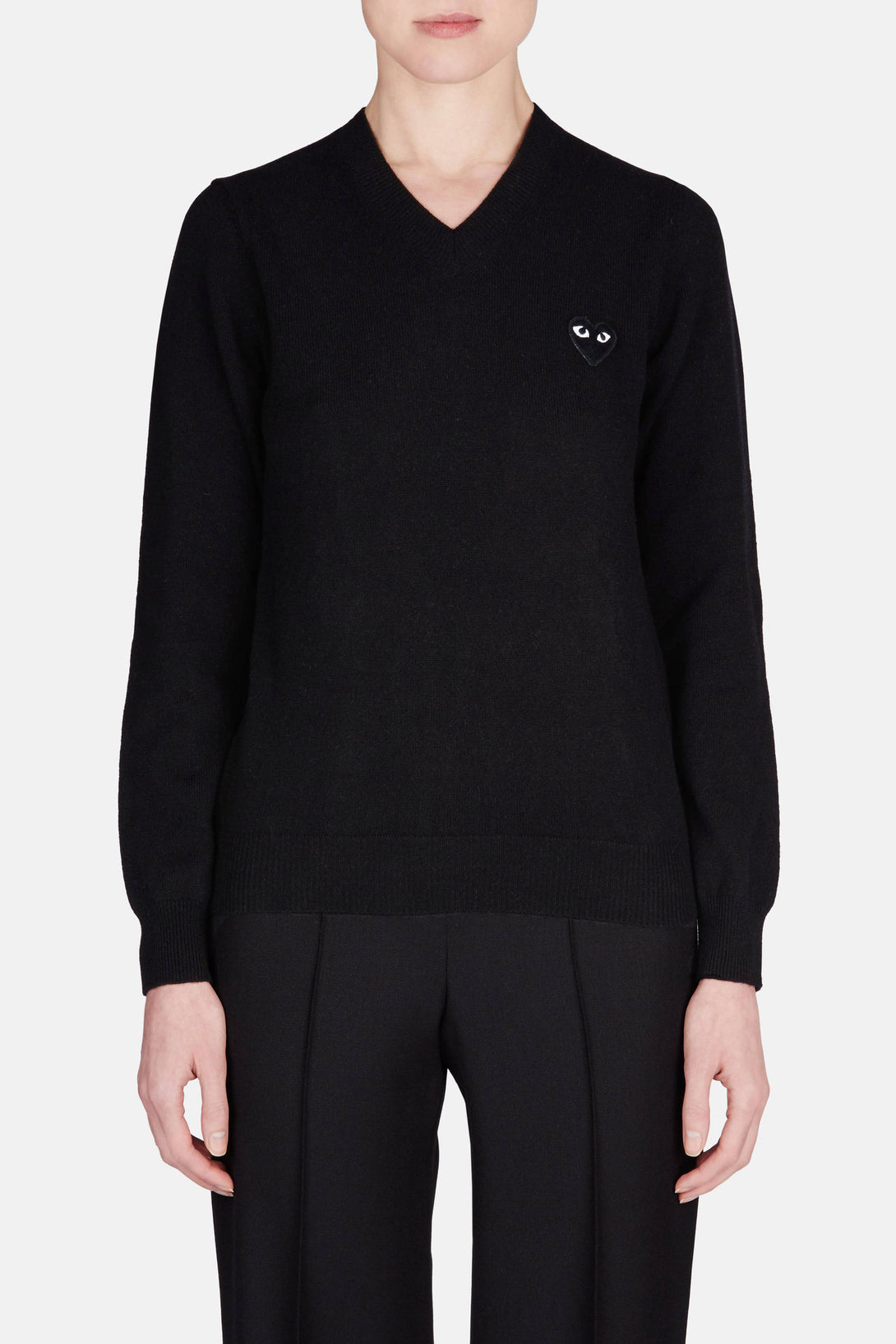Black Play V-Neck Sweater - Black