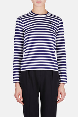 Black Small Play Striped T-Shirt - Navy/White