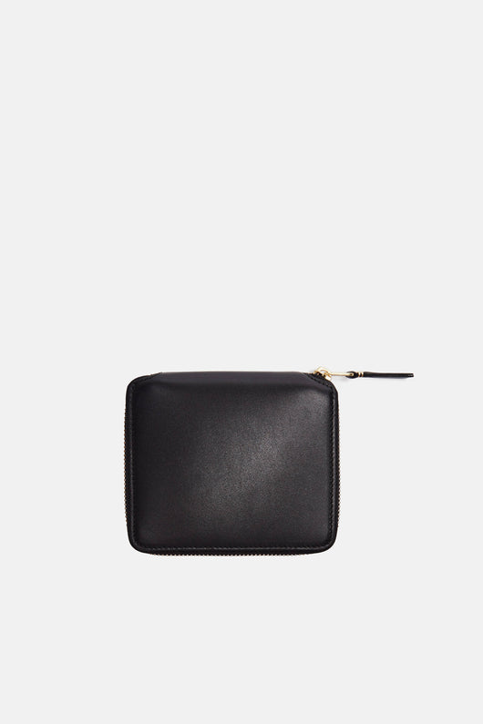 Classic Leather Zip Around Wallet - Black