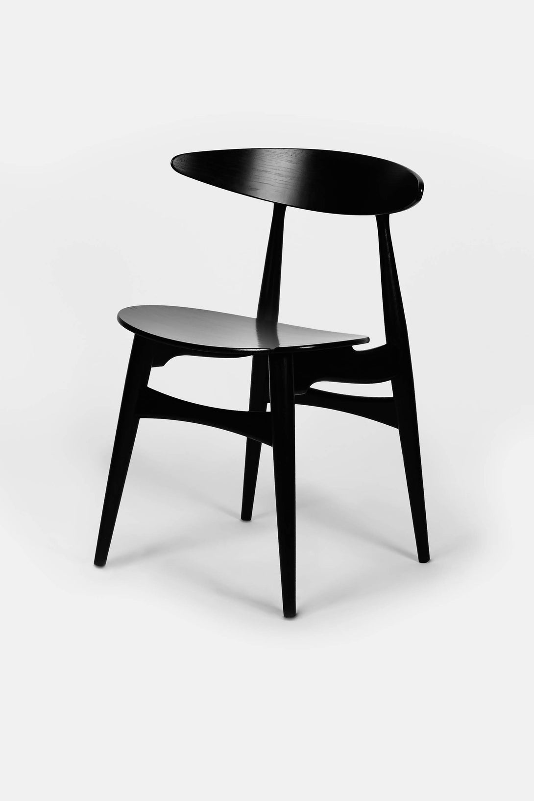 Hans Wegner CH33 Dining Chair   Black Oak