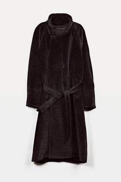 Asymmetrical Coat - Charcoal