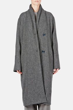 Kaftan Coat - Grey Marl