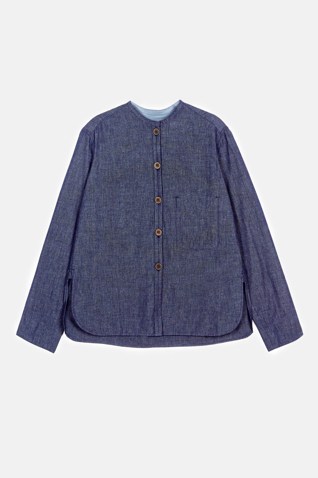 Officer Collar Shirt 2 - Indigo Blue