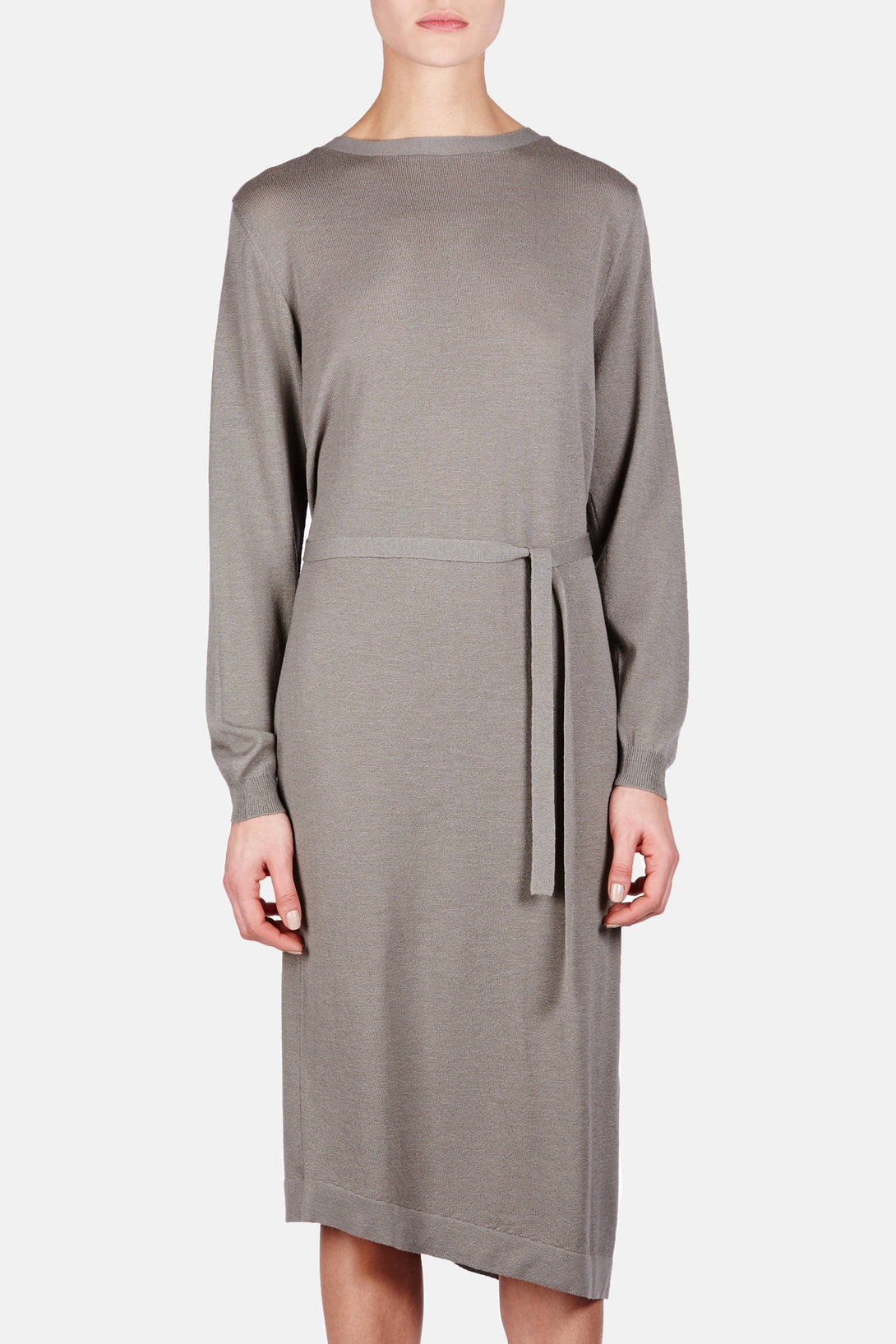 Asymmetrical Dress - Olive Grey
