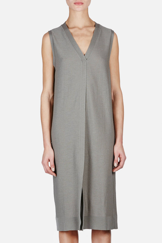 Sleeveless Dress - Olive Grey