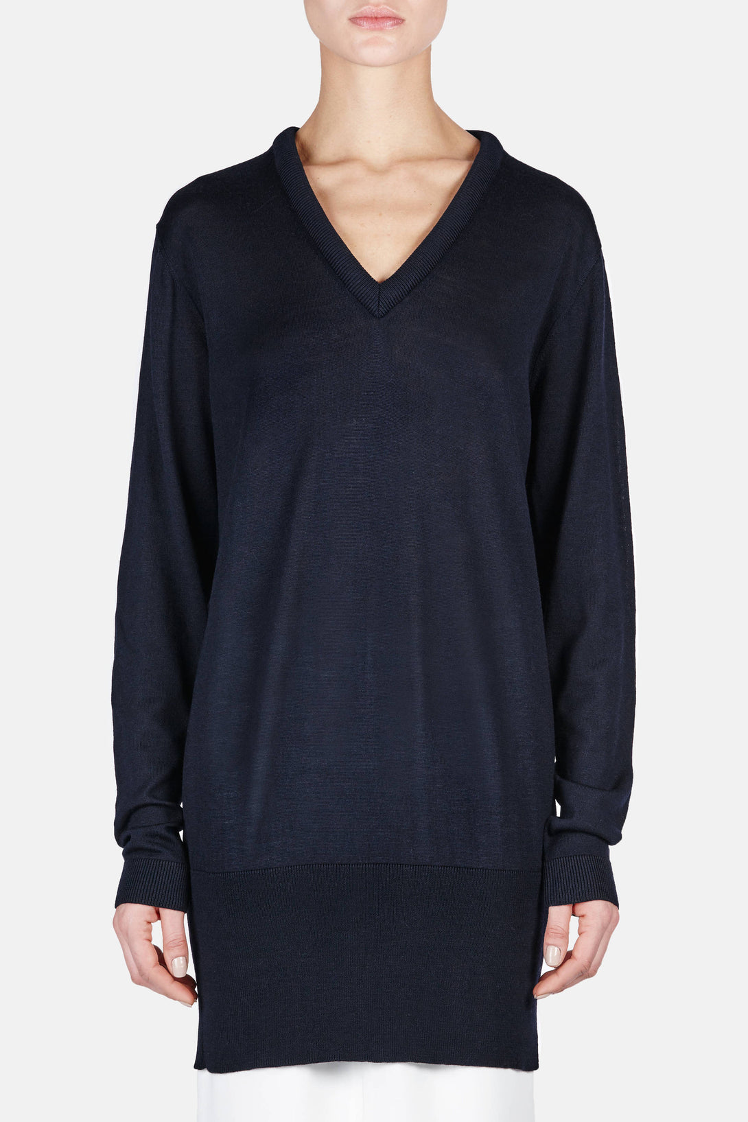 V-Neck Tunic - Midnight Blue