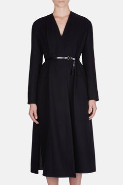 Wrapover Coat - Black