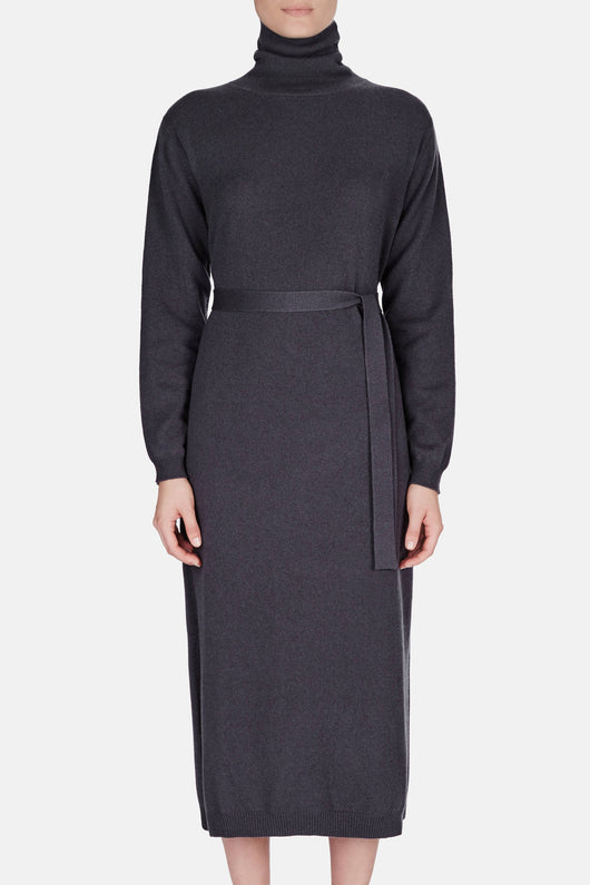 Turtleneck Dress - Onyx