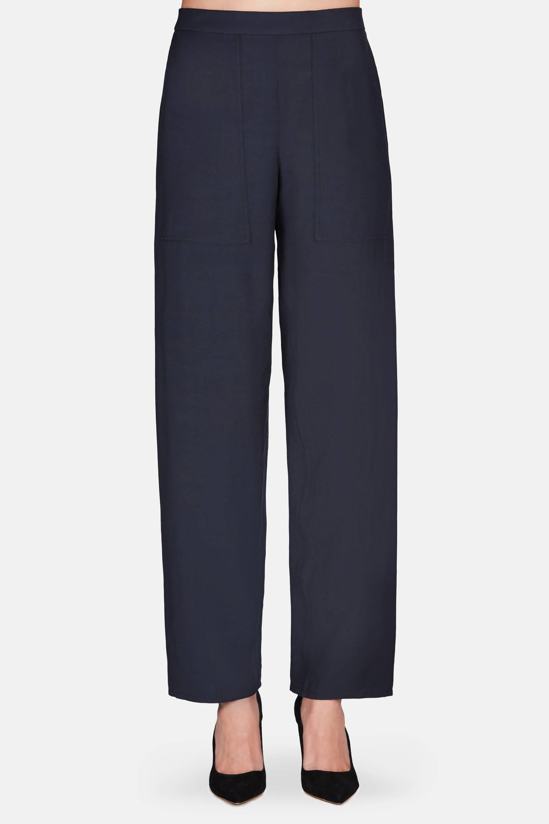Pull On Elasticated Pants - Midnight Blue