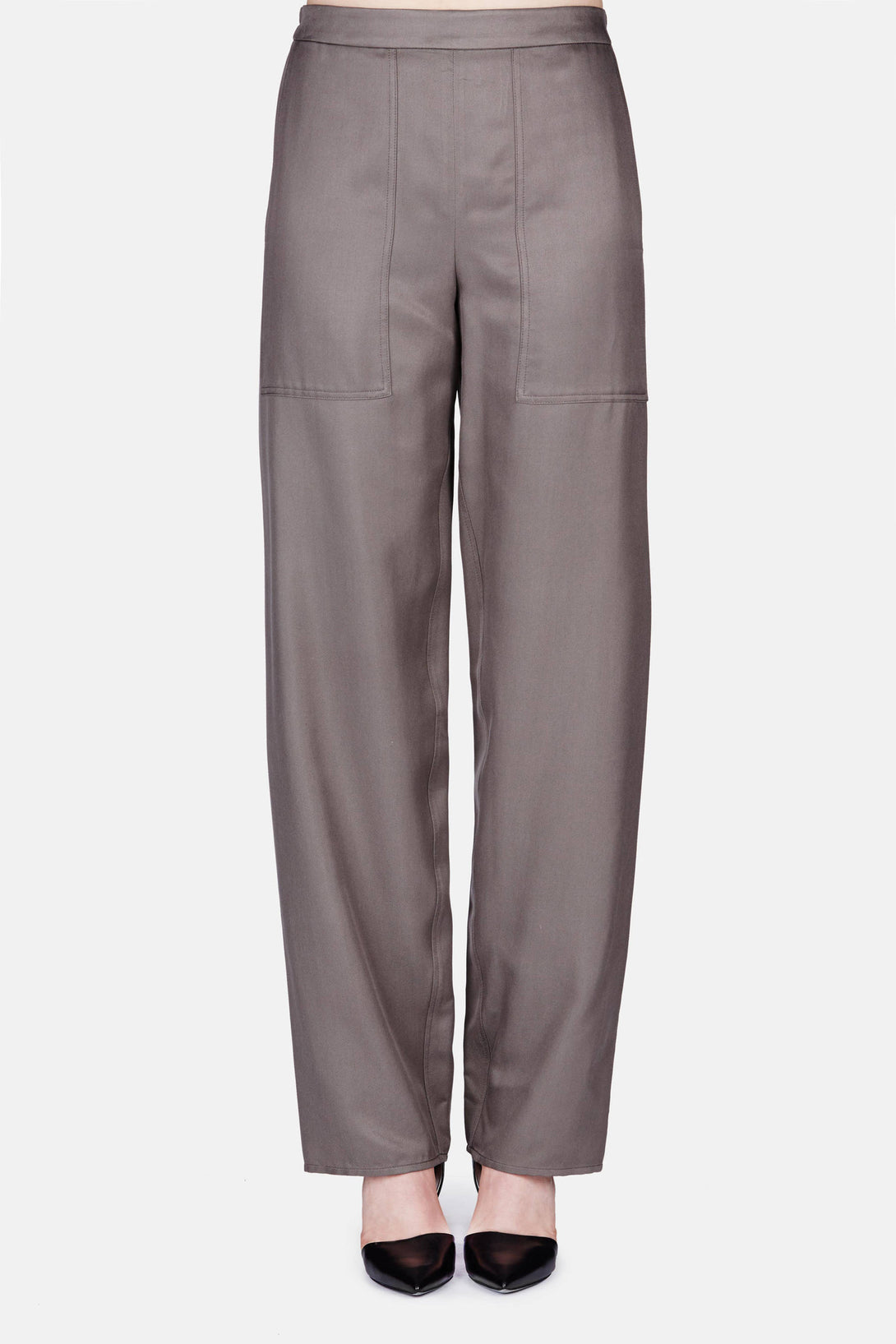Elasticated Pants - Olive Grey