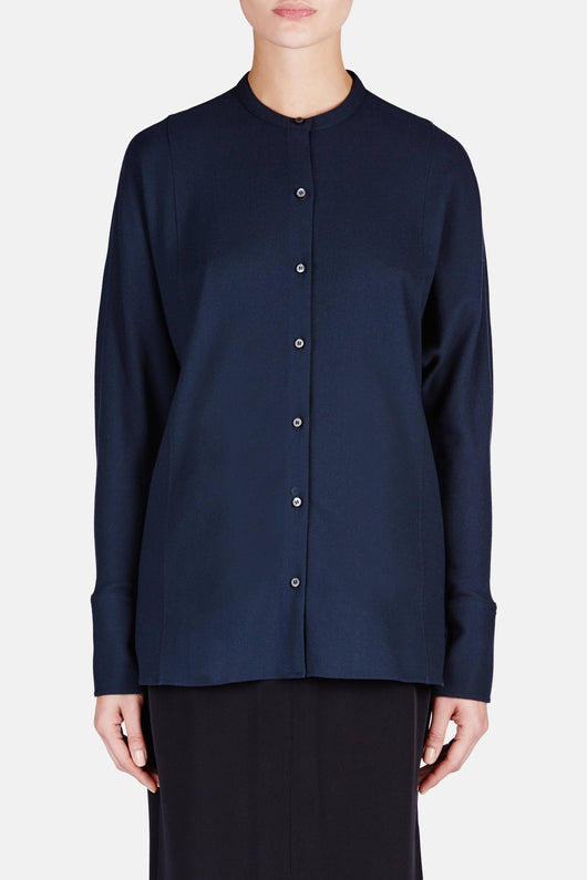 Bat Sleeve Shirt - Midnight Blue