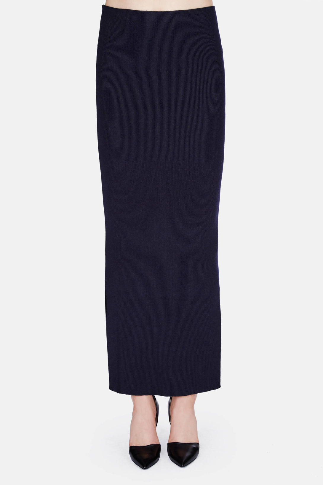 Knitted Tube Skirt - Midnight Blue