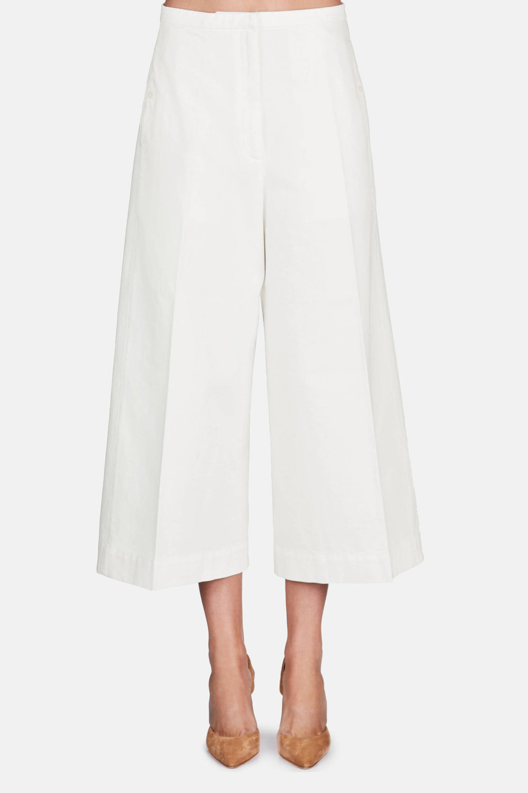 Large Pants Cropped - Off White